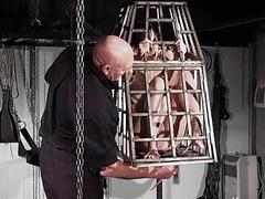 Tit tortured and caged slaveslut Elise Graves