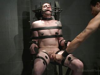 twink slave has his dark hole electrocuted