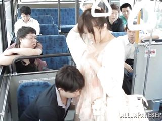 Japanese wench harrassed in public transport