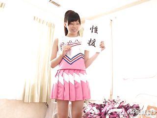 japanese schoolgirl performs feetjob