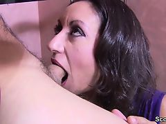 Big typical Tit Milf fuck hairy pussy from friend of her son