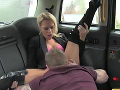 FakeTaxi Swingers duo get it on in taxi