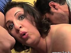 This guy watches his wife Romina fucked in a gangbang