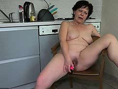 OldNanny Appealing girl masturbate hairy adult pussy