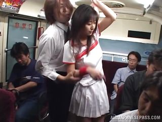 japanese slut gets drilled on the bus