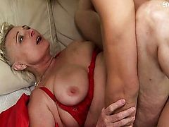 Natural tits exemplar dick sucking