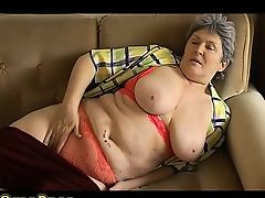 BBW Adult playing with electro toy