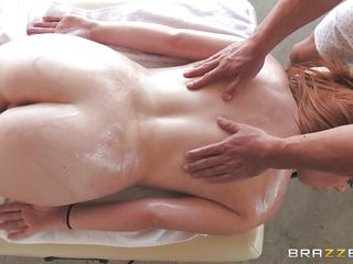 oil rub down relaxes a queen