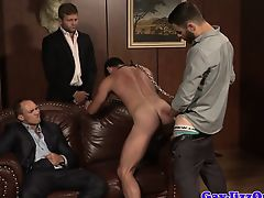 United muscle assfucked in moist bondage group