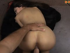 Pretty babe sells a fur coat and fucked