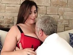 Appealing plumper Angel DeLuca hardcore sex