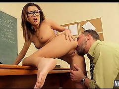 Young Oriental Sucks And Fucks Teachers Cock Alina Li