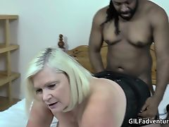 GILF Lacey Starr with mammoth fat black cock