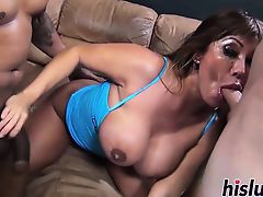 Ava Devine gets her pretty face fucked