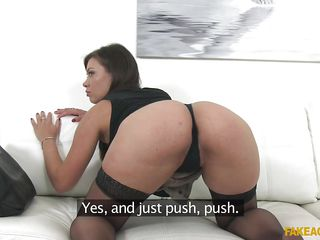 naughty pretty needs cock in the agent's office