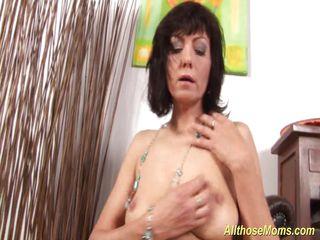 passionate mom rubbing her wet uterus