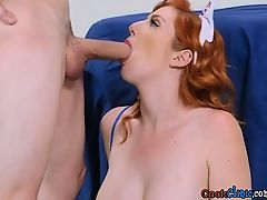 Breasty Nurse Lauren Phillips Milks Patients Enormous Cock