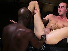 Hot faggot fetish and cumshot