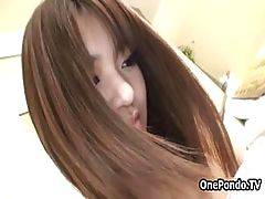 Shy Japanese teen in pantyhose pleasing part6
