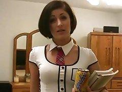 Schoolgirl in skirt gets screwed by teacher