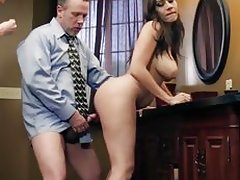 Brunette women go crazy sharing and riding an hard cock