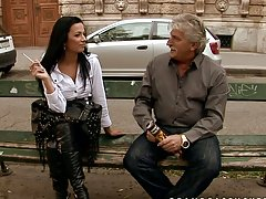 A Majestic Raven Haired Mature Has Sex With An Older Man