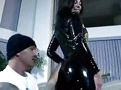 Ashley blue in a Latex Catsuit Gets Pounded In The Ass By Two Guys By RB