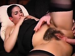 Big Boobs, Hairy  French Brunette is As well Passionate for Dick