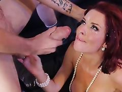 Veronica Avluv gains huge facial blast from thug dick
