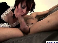 Sexy stylish english mature loves to get spanked